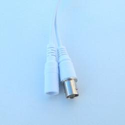 Кабель хвост IP камеры белый 60см (BNC+12В 3p*1.25/ИК 2p*2) (для XM)