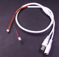 Кабель хвост IP камеры белый 60см (BNC+12В 3p*1.5/ИК 2p*2) (стандарт)