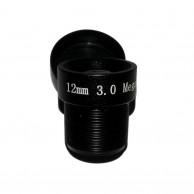 Объектив Yunxi lens LHA300-S (M12/3Мп/ИК/5 линз/мет) 12мм