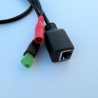 Кабель хвост IP камеры чёрный 70см (UTP4 6p*1.25/12В 4p*1.25/ИК 2p*2, RS485)