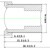 Объектив ShenZhen YiYi optics EE-2836C-3MP (M12/3Мп/ИК/4G/мет) 2.8мм