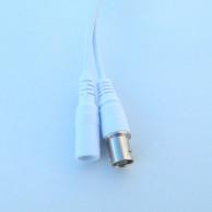 Кабель хвост AHD камеры белый 60см (BNC+12В 3p*1.25/ИК 2p*2) (для XM)