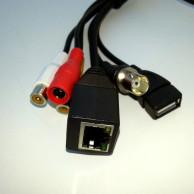 Кабель хвост IP камеры чёрный 70см (UTP4 6p*1.25/12В 4p*1.25/ИК 2p*2, USB/BNC/2xRCA)
