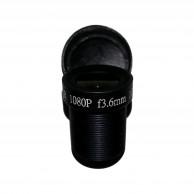 Объектив Yunxi lens LHA200-S (M12/2Мп/ИК/5 линз/мет) 3.6мм