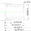 Объектив ShenZhen YiYi optics EE-1231C-3MP (M12/3Мп/ИК/5G/мет) 8мм