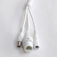 Кабель хвост IP камеры с RCA белый 70см (UTP4 6p*1.25/12В 4p*1.25/ИК 2p*2/RCA 3p*1.25)