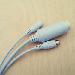 Кабель хвост IP камеры Smart PoE+12В+RCA 80см (UTP8 8p*1.25/12В 4p*1.25/ИК 2p*2/RCA 3p*1.25)