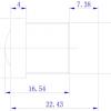 Объектив ShenZhen YiYi optics EE-6031L-3MP (M12/3Мп/ИК/4G/мет) 6мм